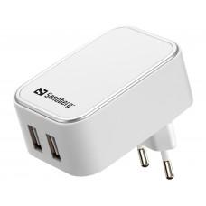 AC CHARGER DUAL USB 2.4+1A EU