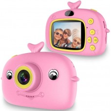DIGITAL RECHARGABLE DOLPHIN CAMERA FOR CHILDREN - PINK