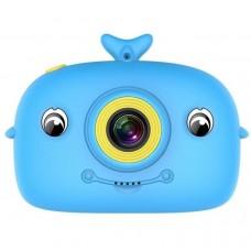 DIGITAL RECHARGABLE DOLPHIN CAMERA FOR CHILDREN - LIGHT BLUE