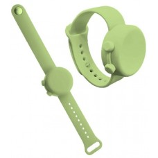 """SILICONE DISINFECTANT BRACELET """"WATCH"""" - GREEN"""