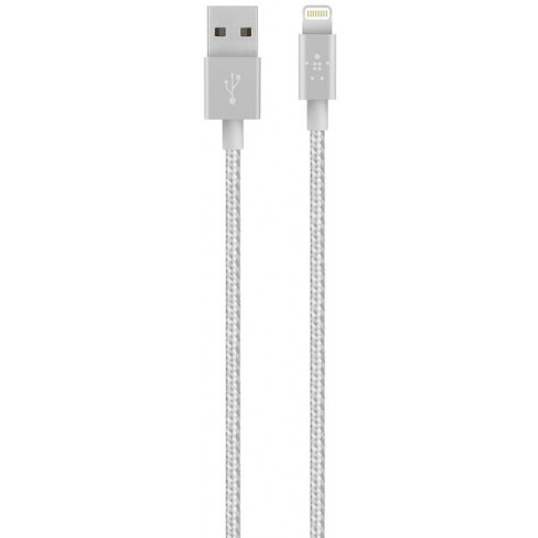 SYNC/CHARGE CABLE,2.4A,LTG,1.2m,SILVER