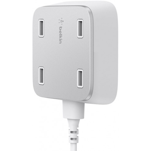 Home Charger,AC,4-PORT,UNIVERSAL,5.4A',WHITE