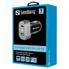 CAR CHARGER  USB-C PD+QC3.0 63W