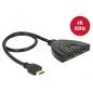 HDMI UHD SWITCH 3 x HDMI in > 1 x HDMI OUT 4K WITH INTEGRATED CABLE 50cm