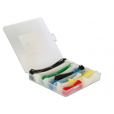 CABLE TIES BOX 600 PIECES COLOURED
