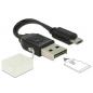 CABLE MICRO USB OTG MALE > USB A MALE INCL. MICRO SD CARD READER