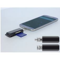 USB OTG CARD READER WITH USB 3.0 A + MICRO-B COMBO MALE
