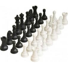CHESS PLAYWORKS PLASTIC 7cm SET WHITE-BLACK