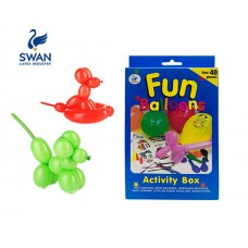 SWAN BALLOON CONSTRUCTION SET WITH STICKERS 24 PIECES