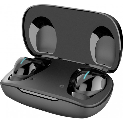 CELLY BLUETOOTH HEADPHONE DOUBLE WITH AIR CHARGE BASE 2 BLACK