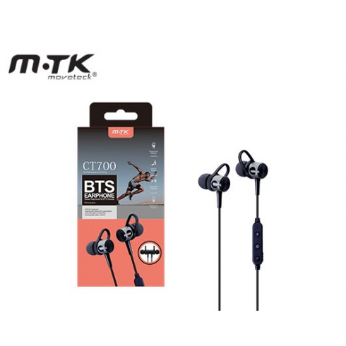 MTK CT700 HEADPHONES WITH BLUETOOTH MICROPHONE SPORTS GRAY