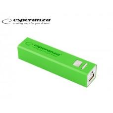 POWER BANK 2.400mAH ESPERANZA 2 USB  POSITION - GREEN