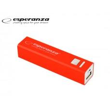 POWER BANK 2.400mAH ESPERANZA 2 USB  POSITION - RED