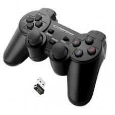 ESPERANZA WIRELESS CONTROLLER 2.4GHZ PS3 / PC GLADIATOR BLACK