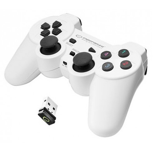ESPERANZA WIRELESS CONTROLLER 2.4GHZ PS3 / PC GLADIATOR -WHITE