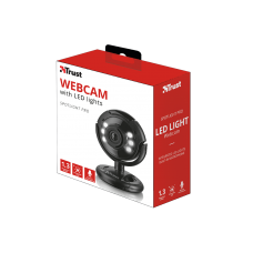 TRUST  WEBCAM  1,3 MP WITH MICROPHONE AND LED LIGHT