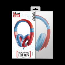 TRUST EARPHONE FOR KIDS SONIN RED/BLUE