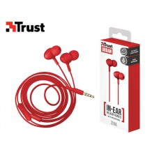 TRUST EARPHONES WITH MIC ZIVA INEAR RED