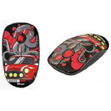 TRUST WIRELESS MOUSE 2.4 GHZ / 1600 SKETCH SILENT CLICK - RED