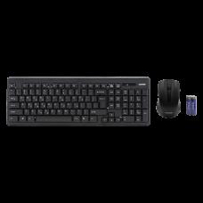 ALMOND KEYBOARD & WIRELESS MOUSE USB BLACK