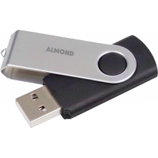 ALMOND FLASH DRIVE USB 16GB TWISTER BLACK