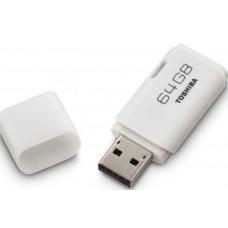 TOSHIBA FLASH DRIVE USB 2.0 64GB HAYABUSA - WHITE