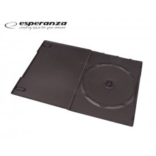 ESPERANZA DVD CASE SLIM 7χιλ. 1Θ. BLACK200Τ.