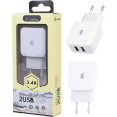 MTK WIRELESS CHARGER 2.4Α 2USB A3201 WHITE