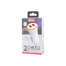 MTK USB CAR CHARGER 2 A3099 WHITE
