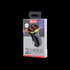 MTK USB CAR CHARGER 2 A3099 BLACK
