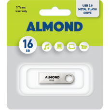 ALMOND FLASH DRIVE USB 16GB METALLIC MINI