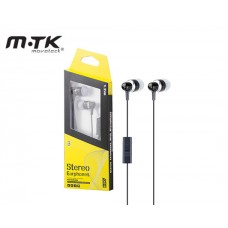 EARPHONES WITH MICROPHONE MTK STEREO - BLACK