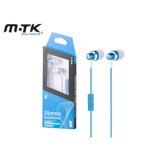 EARPHONES WITH MICROPHONE MTK STEREO - BLUE