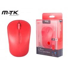 MTK WIRELESS MOUSE LUNA 2,4GHZ 1600DPI - RED