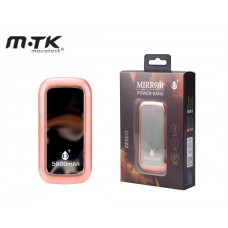 MTK POWER BANK MIRROR 5600mAh 1.5A 1USB - PINK