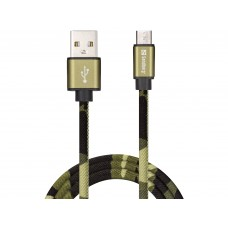 MICRO USB GREEN CAMOUFLAGE 1M