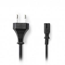 Power Cable Euro Plug - IEC-320-C7 2.0m Black