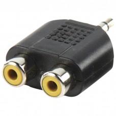 3,5mm stereo plug - 2XRCA socket
