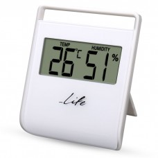 DIGITAL INDOOR THERMOMETER/HYGROMETER, WHITE COLOR