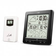 "WI-FI WEATHER STATION WITH WIRELESS OUTDOOR SENSOR, 4.3"" LCD DISPLAY AND CLOCK / ALARM"