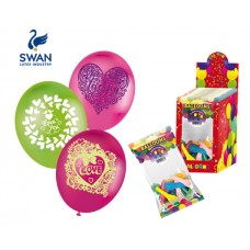 SWAN SAINT VALENTINE BIG BALOONS - 4 PIECES