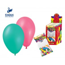SWAN MULTICOLOR BALOONS 26cm 12 PIECES