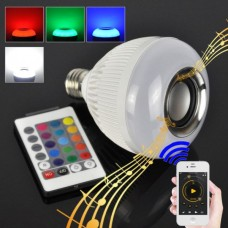 LED λάμπα RGB που αλλάζει χρώματα με ενσωματωμένο ηχείο Bluetooth και χειριστήριο