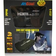 3σε1 HDMI SWITCH 4k UHD Q-A137 ANDOWL