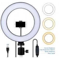 Φωτιστικό δαχτυλίδι USB LED 25 cm με dimmer