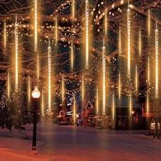 Χριστουγεννιάτικη επεκτεινόμενη LED βροχή μετεωριτών 8 x 47cm ζεστό λευκό