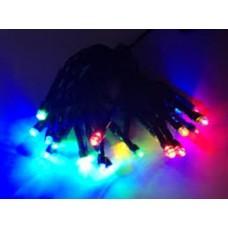 20 πολύχρωμα Χριστουγεννιάτικα LED λαμπάκια μπαταρίας