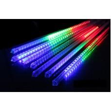 Χριστουγεννιάτικη επεκτεινόμενη LED βροχή μετεωριτών 8 x 47cm πολύχρωμο