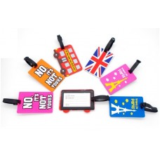 Cute luggage identification silicone labels - English Bus
