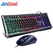 Σετ πληκτρολόγιο και ποντίκι για Gaming LED Q-803 ANDOWL